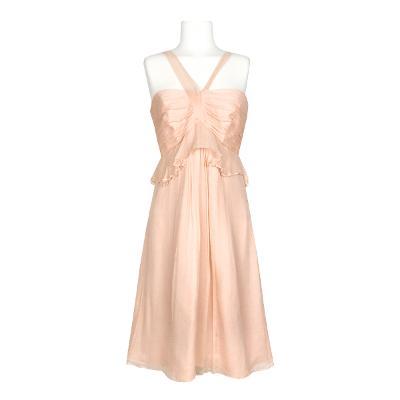 sleeveless ruffle dress pink